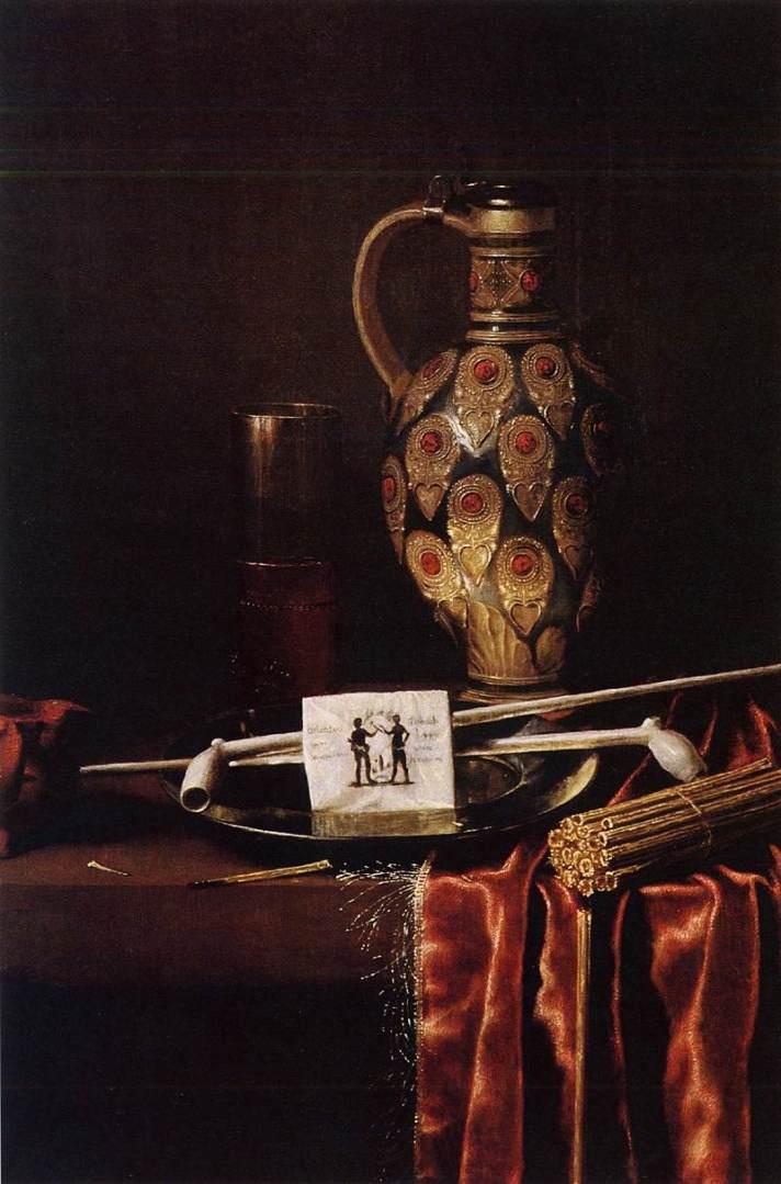 """Painting """"Smoker"""" painted by Hubert Van Ravesteyn"""