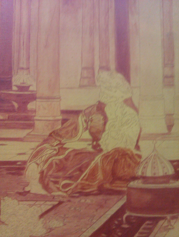 The Pasha Gerome - First step of the copy by Lara Laria Martin