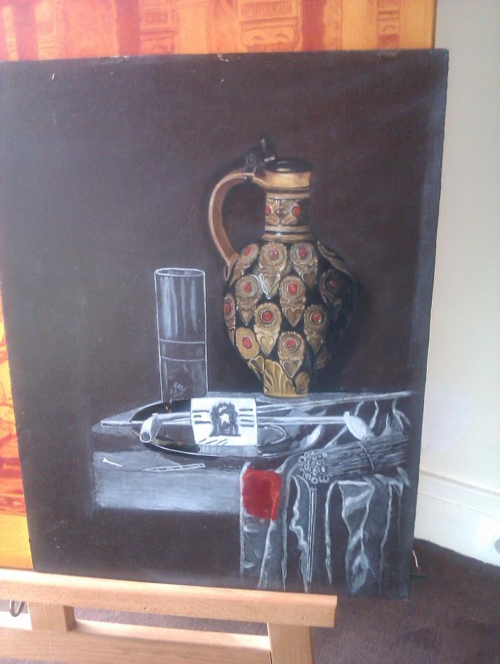 Copier une peinture par étape avec Lara Laria Martin.