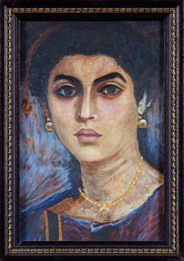 Fayum Portrait by Lara Laria Martin Portrait du Fayoum