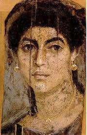 Fayum Portrait : woman face / Portrait du Fayoum : visage de femme